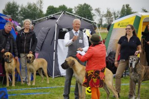 Eslöv Int. September 2014 Pine Garden's Isaac Newton Third best male as a junior getting his second CAC.